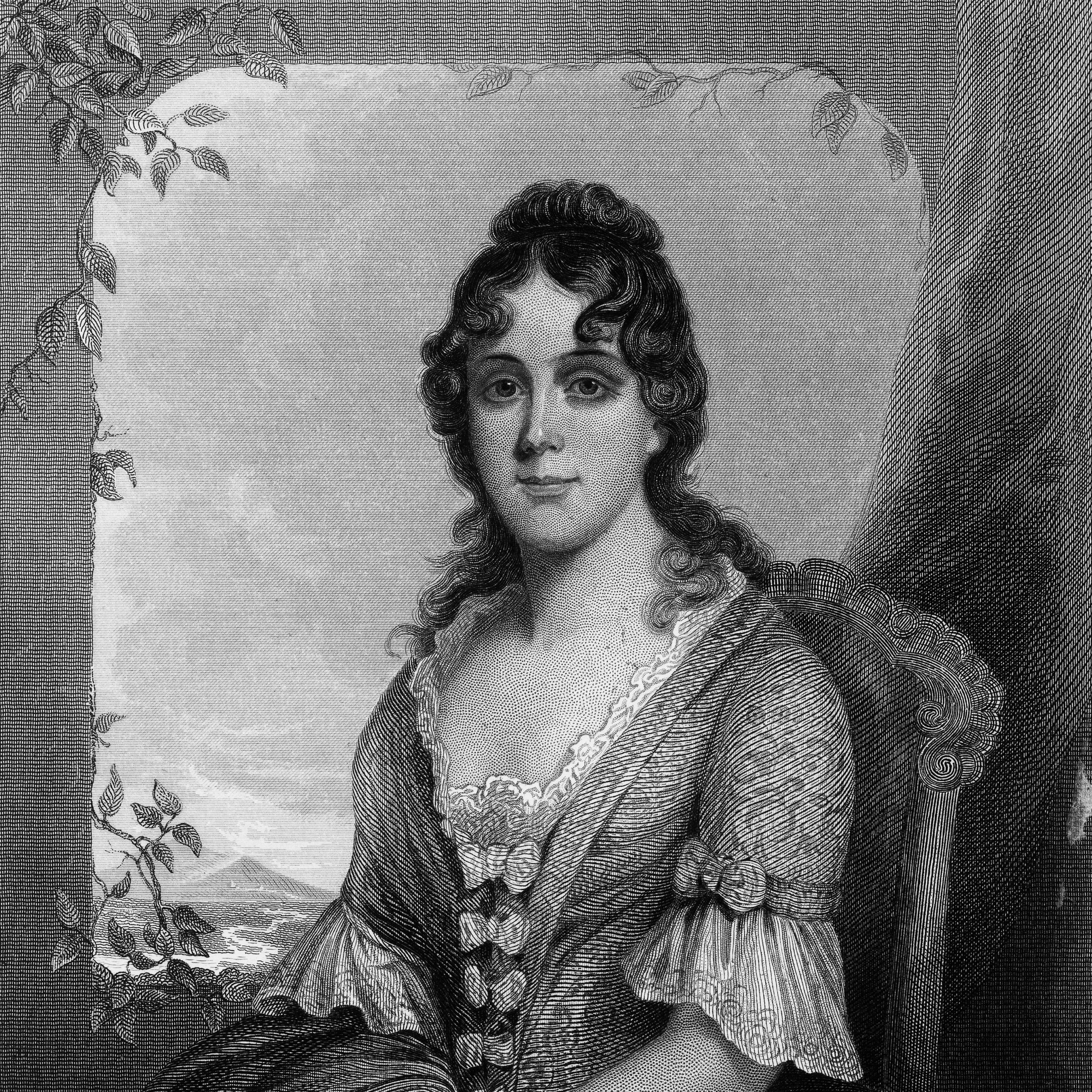 Engraved Portrait of Mrs. Thomas Randolph, Martha Jefferson, Circa 1780