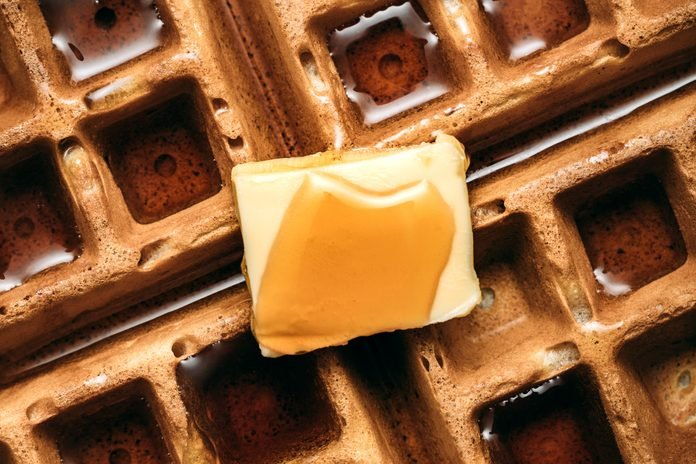 Hot Belgian Waffle Breakfast in Detail