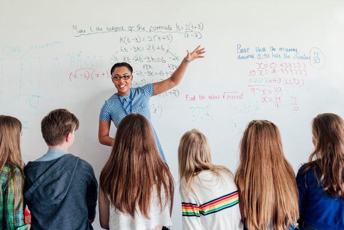 Teacher Giving a Lesson
