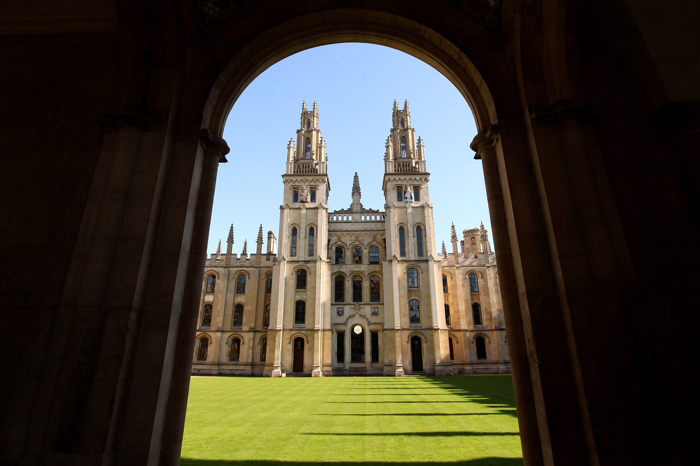 A general view of All Souls College in Oxford city centre as Oxford University commences its academic year on October 8, 2009 in Oxford, England.