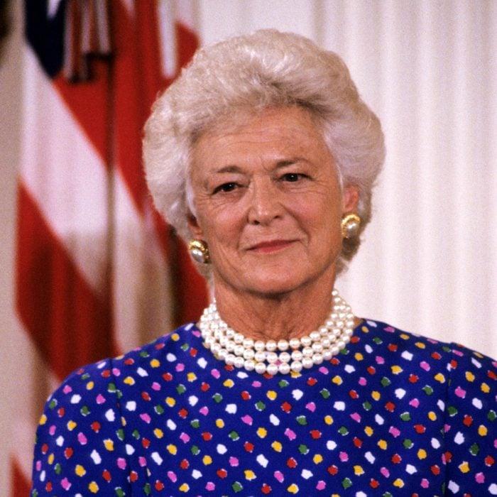 Barbara Bush Hosts Ceremony