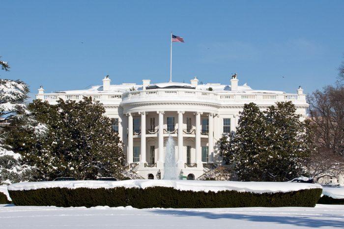 White House, winter