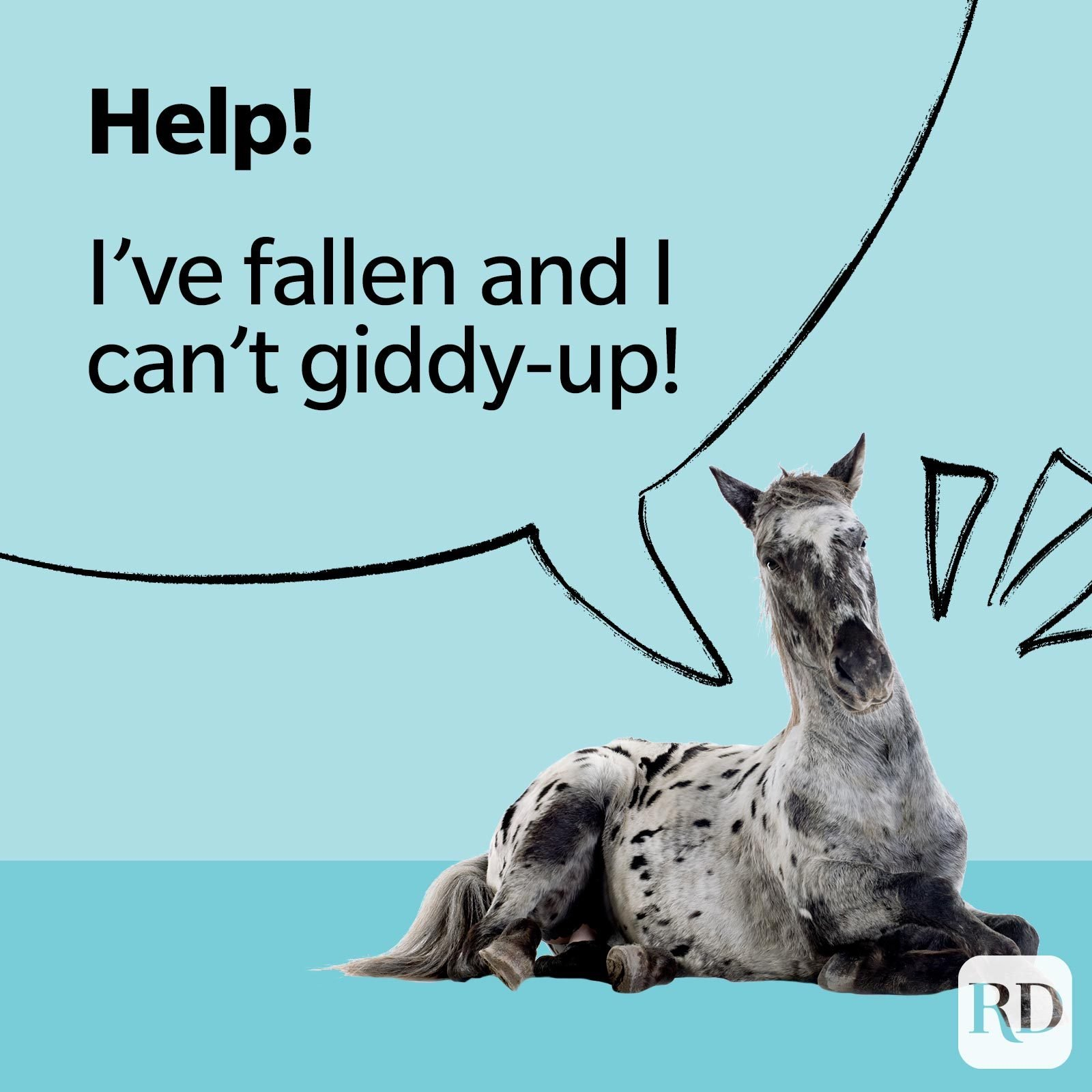 Help! I've fallen and can't giddy-up!