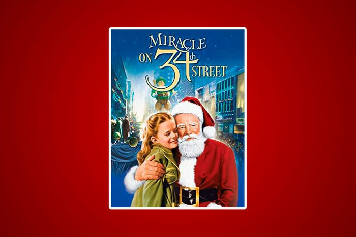 Miracle on 34th Street movie cover on red background