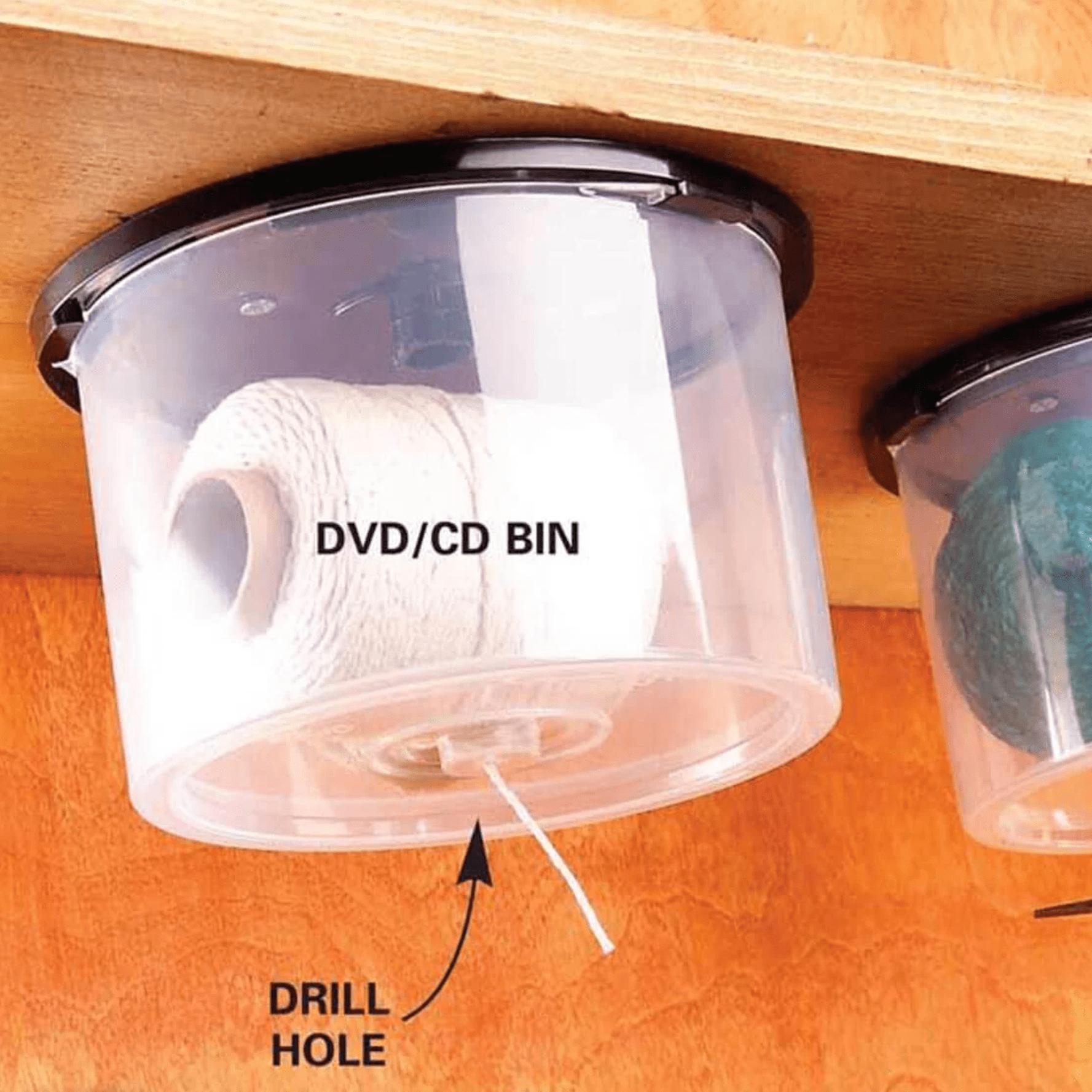 String-Dispensing CD Bins