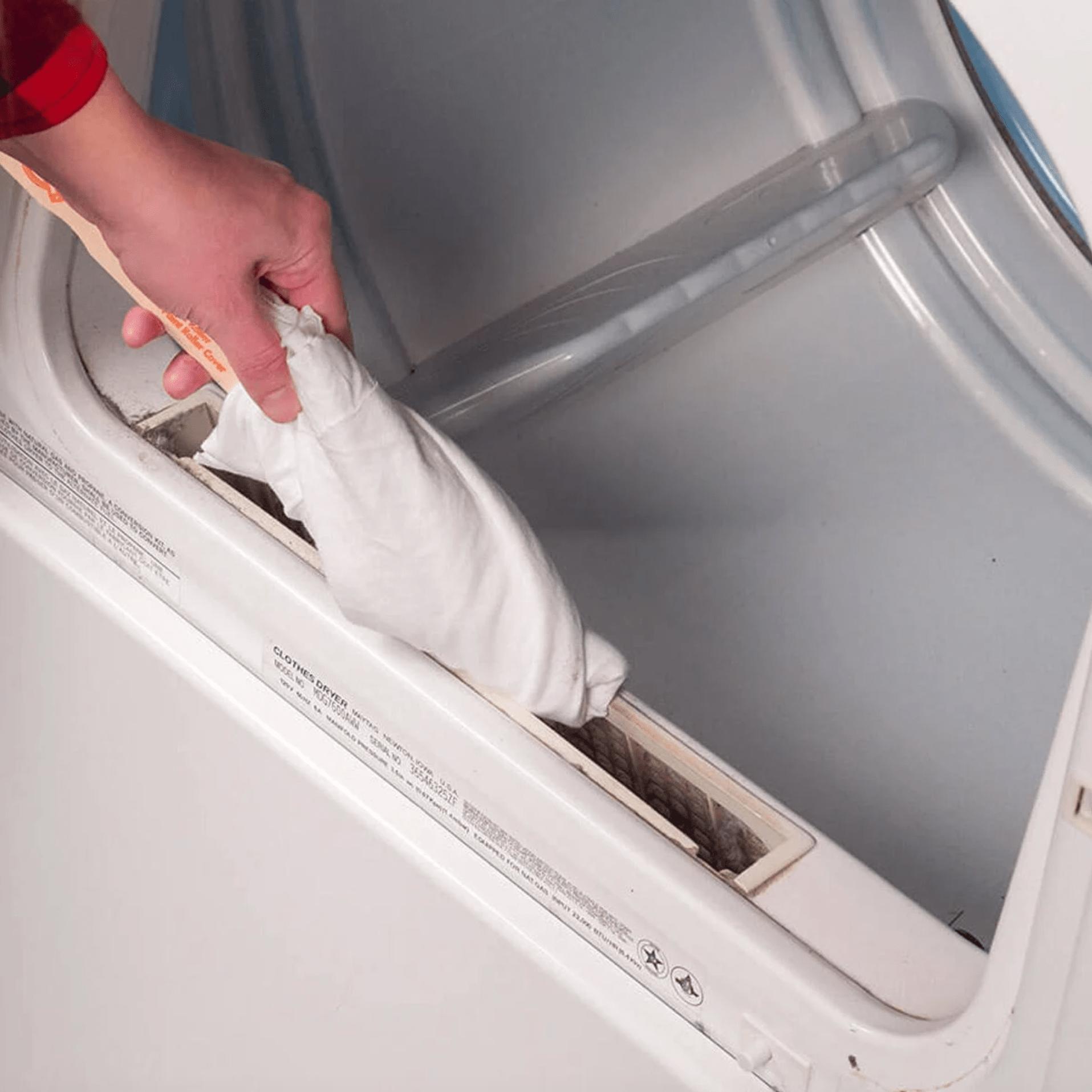 Paint Stick to Clean Lint Buildup