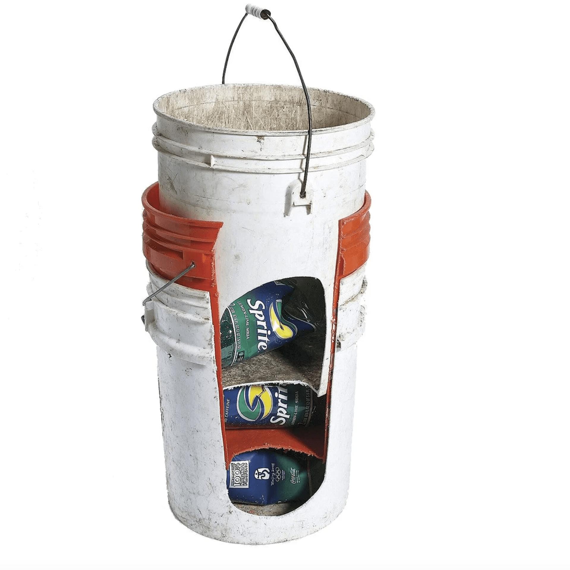 stacked buckets, bucket storage