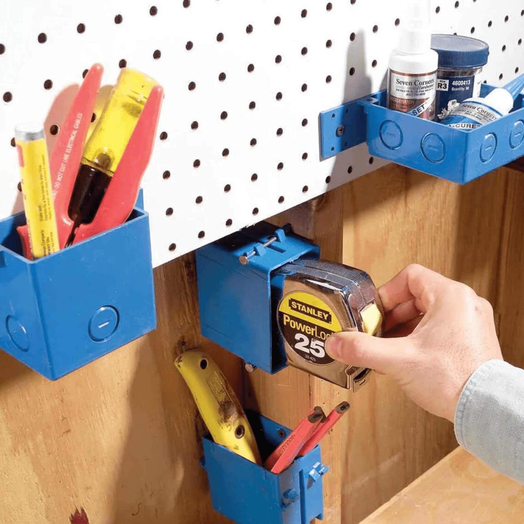 Easy-Mount Mini Storage Bins