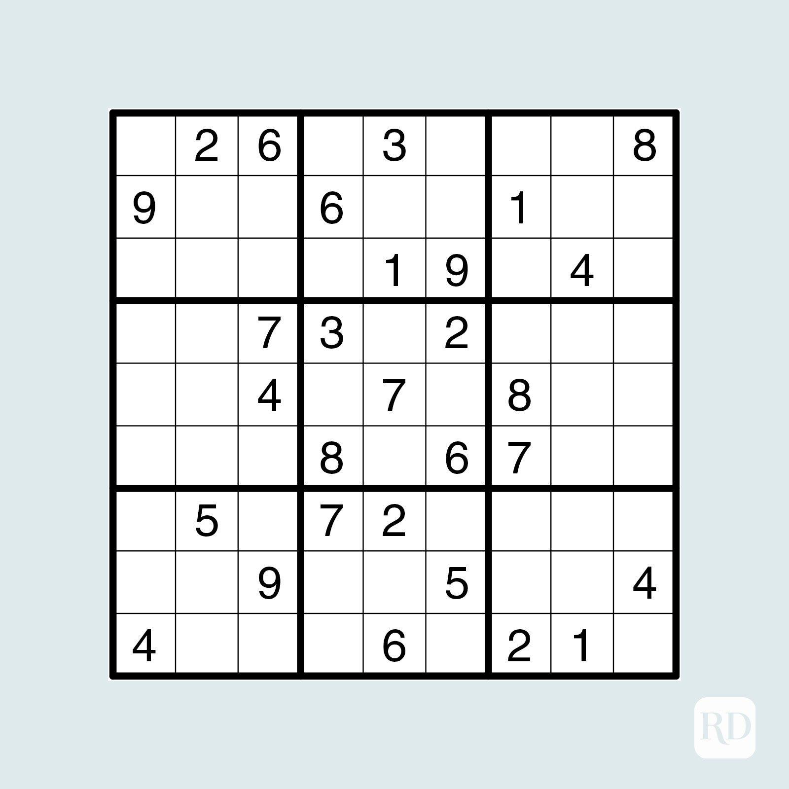 Medium sudoku puzzle