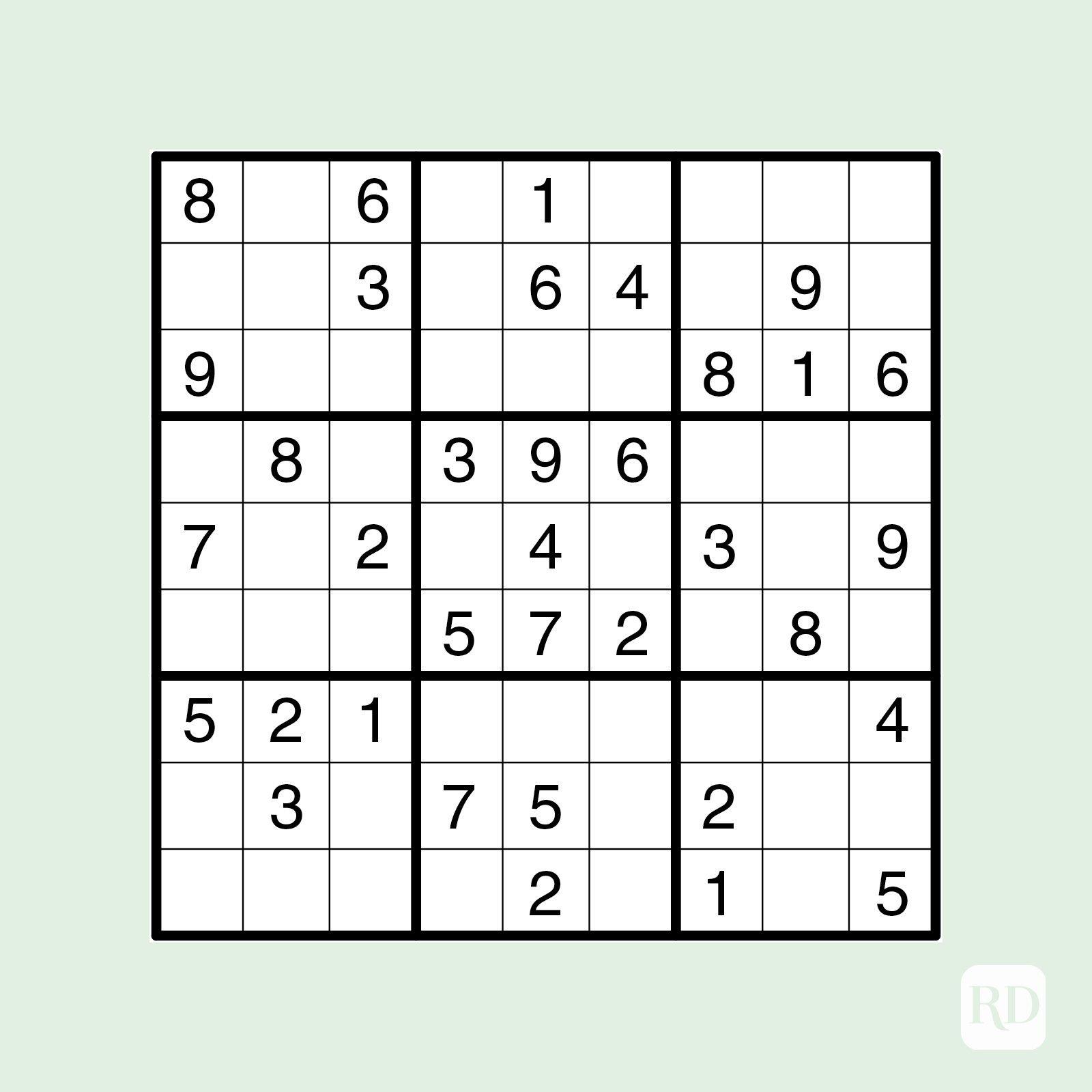 Easy sudoku puzzle