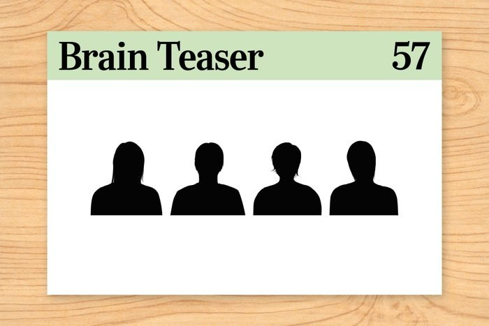Brain teaser 57, icons of 4 silhouettes