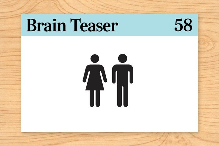 Brain teaser 58, icons of man and woman