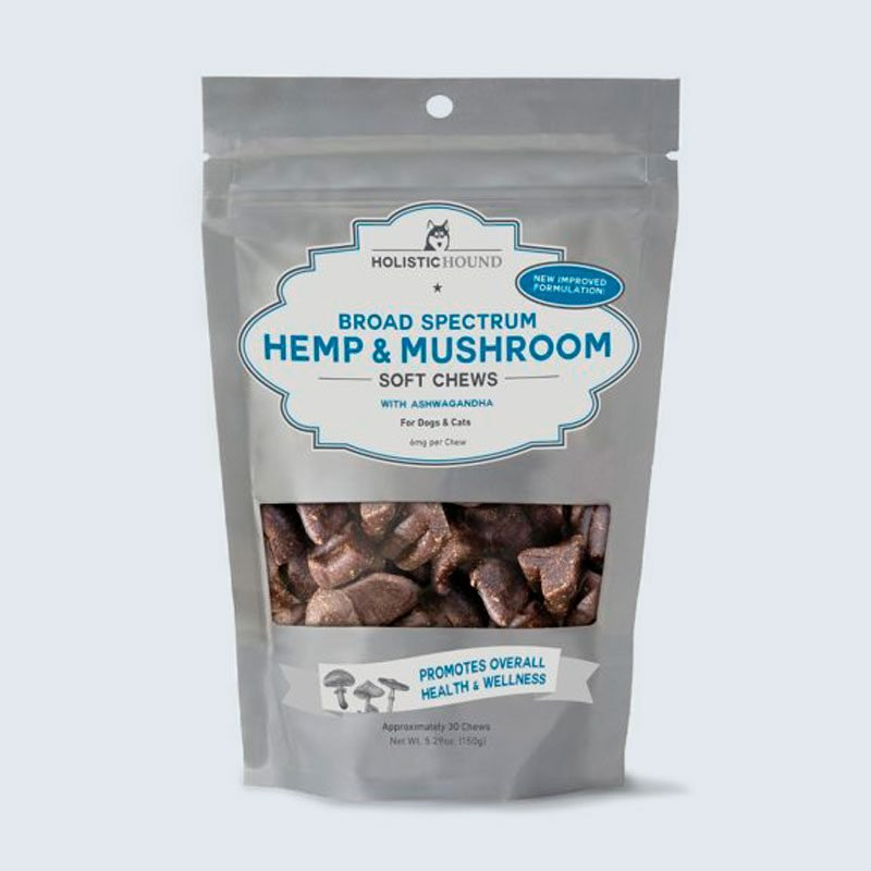 Holistic Hound's Broad Spectrum Hemp & Mushroom Soft Chews with Ashwagandha