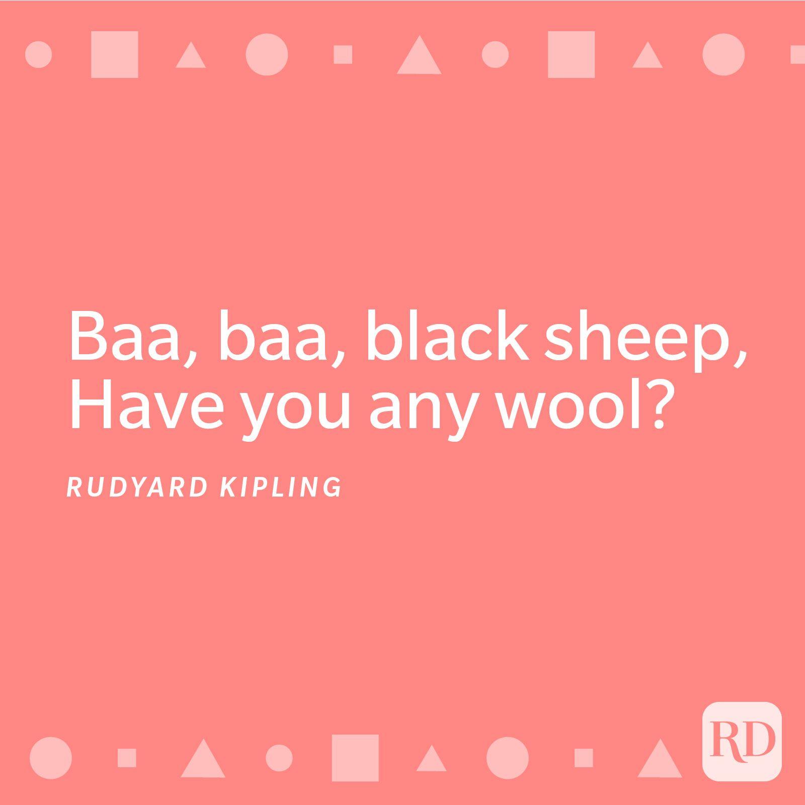 Baa, Baa Black Sheep