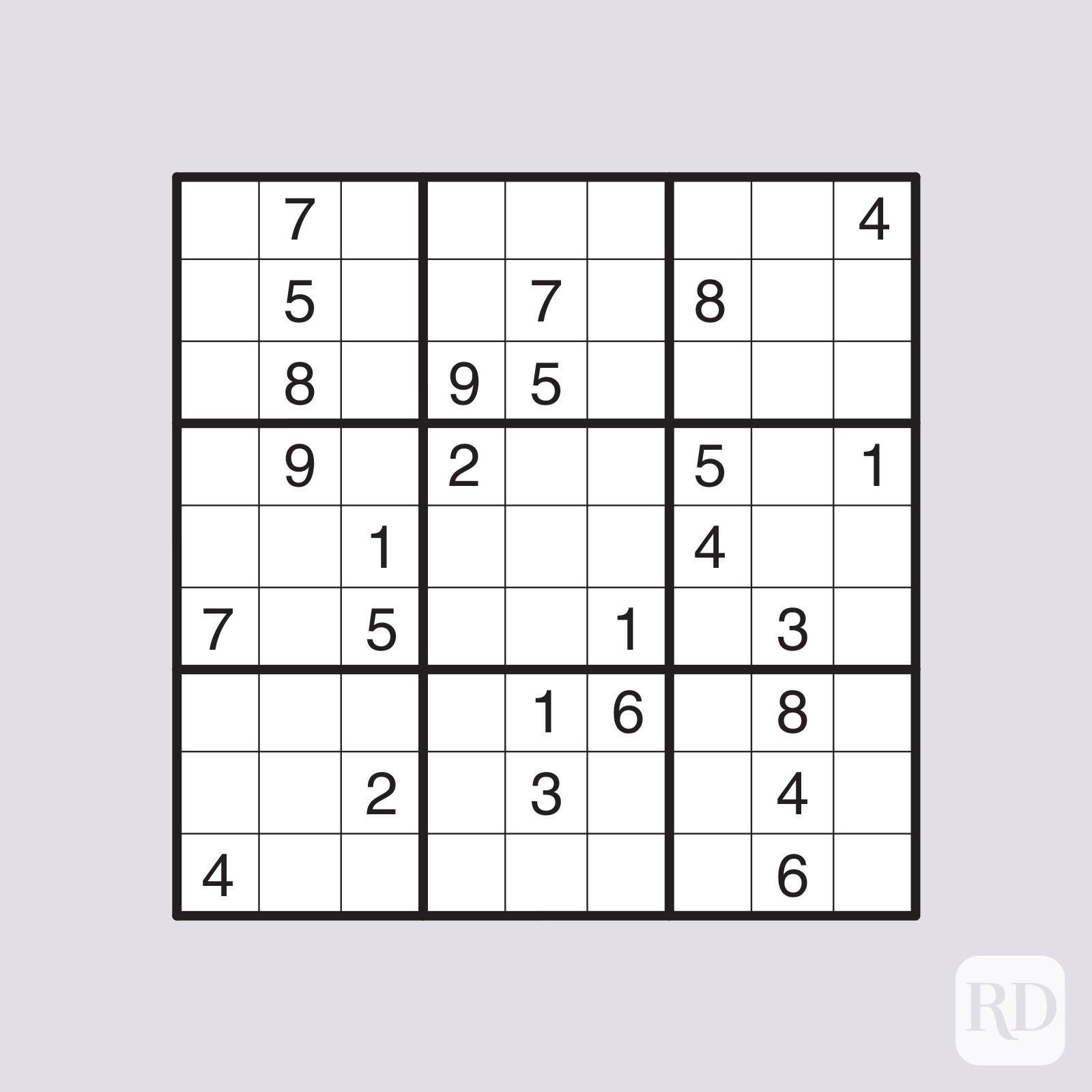 Very hard sudoku puzzle