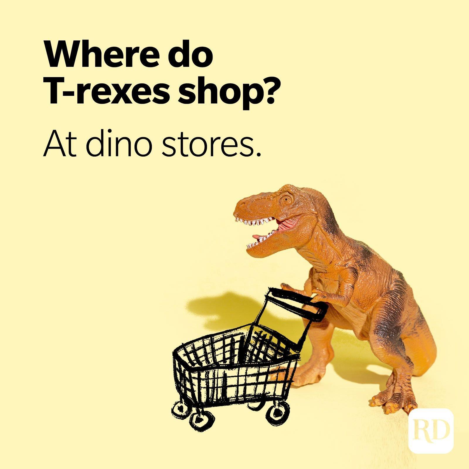 6. Where do T-rexes shop? At dino stores.