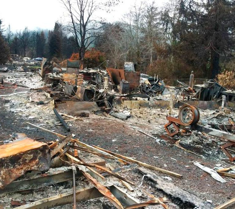 Wildfire Damage Courtesy Ron Ross