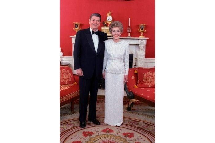 Nancy Reagan in James Galanos (1985)