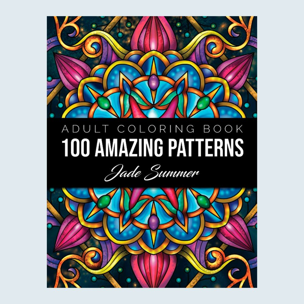 100 Amazing Patterns Adult Coloring Book Via Amazon