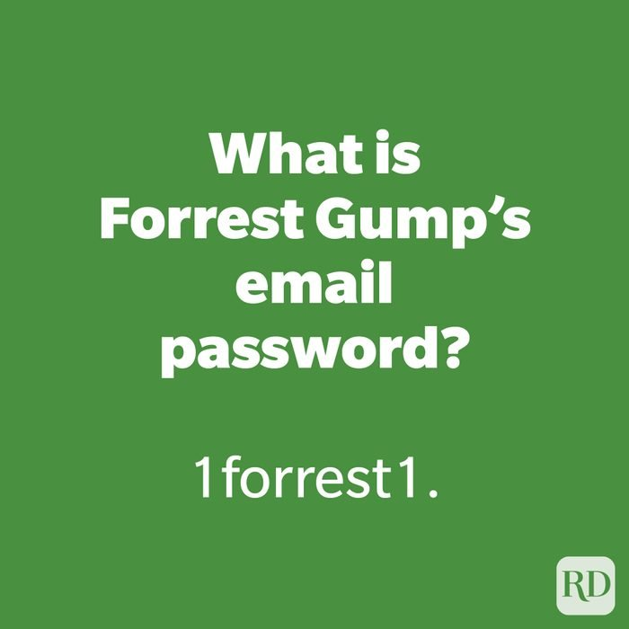 What is Forrest Gump's email password?