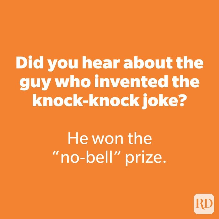 Did you hear about the guy who invented the knock-knock joke?
