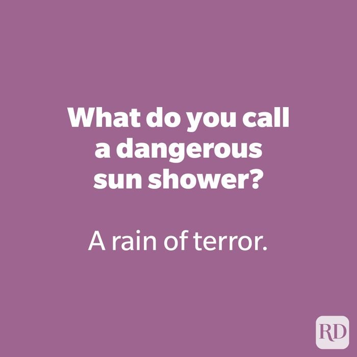 What do you call a dangerous sun shower?