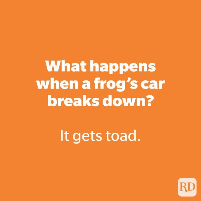 What happens when a frog's car breaks down?