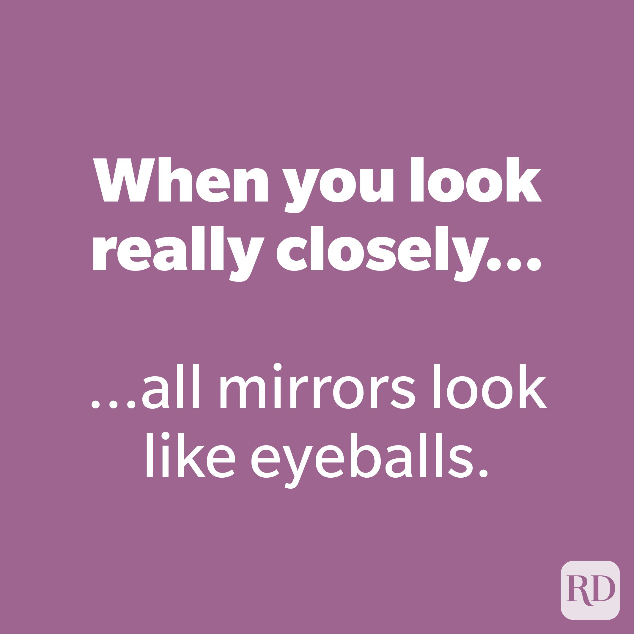 When you look really closely...