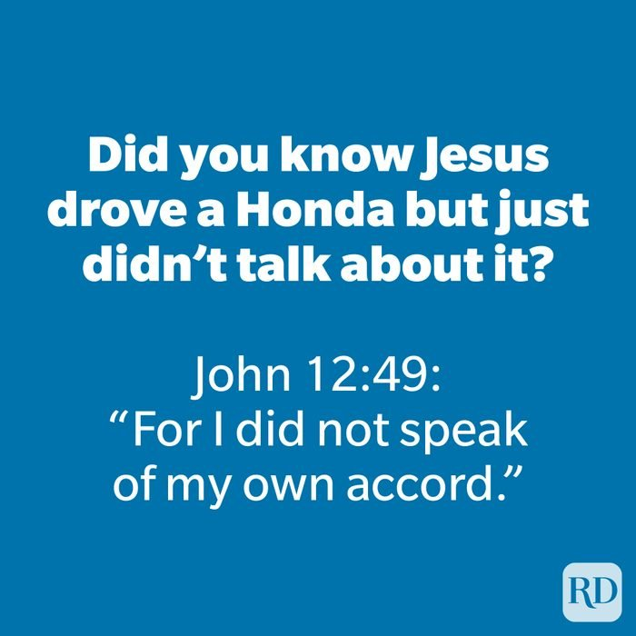 Did you know Jesus drove a Honda but just didn't talk about it?