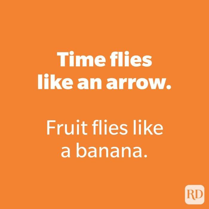 Time flies like an arrow.