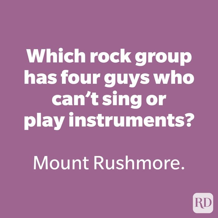 Which rock group has four guys who can't sing or play instruments?