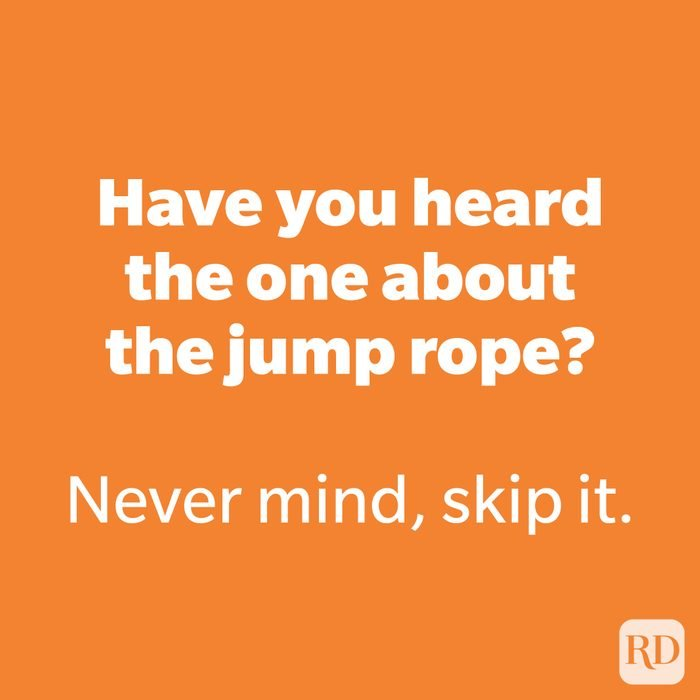 Have you heard the one about the jump rope?