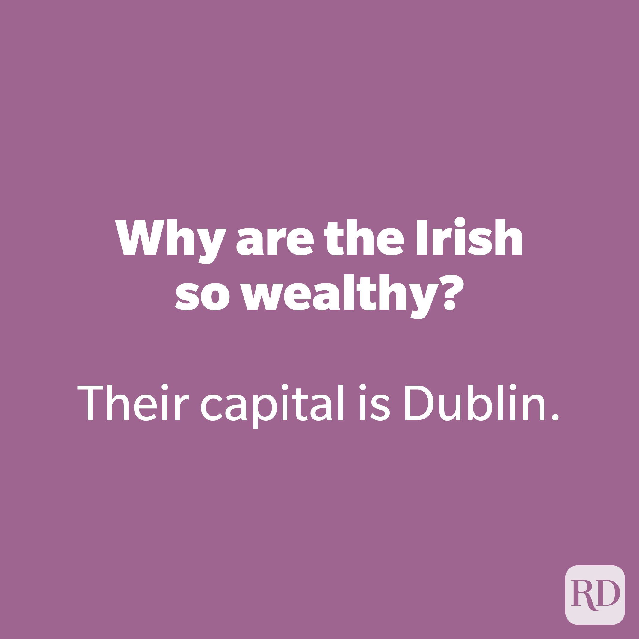 Why are the Irish so wealthy?