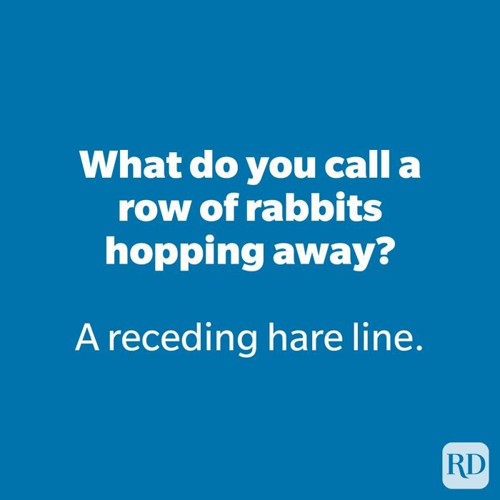 What do you call a row of rabbits hopping away?