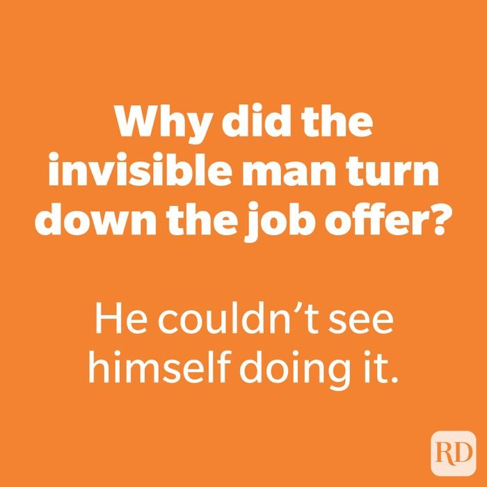 Why did the invisible man turn down the job offer?
