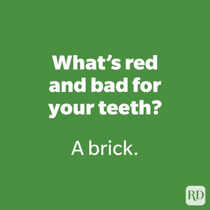 What's red and bad for your teeth?