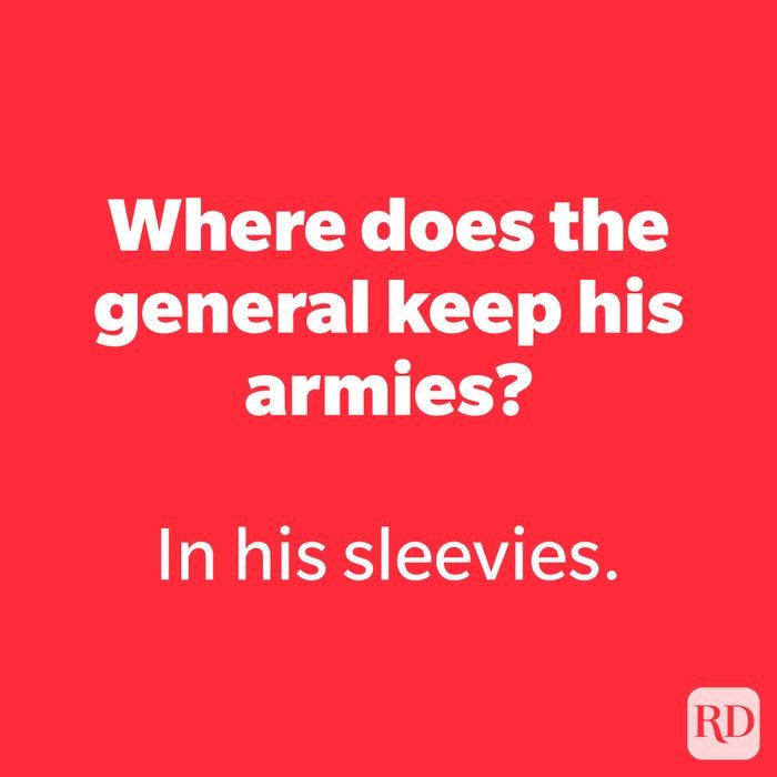 Where does the general keep his armies?