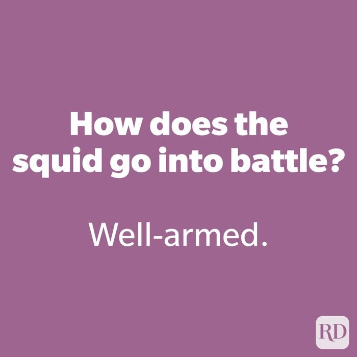 How does the squid go into battle? 171