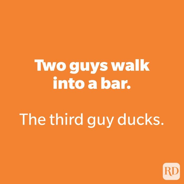 Two guys walk into a bar.