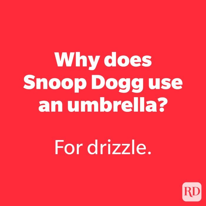 Why does Snoop Dogg use an umbrella?