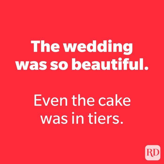 The wedding was so beautiful.