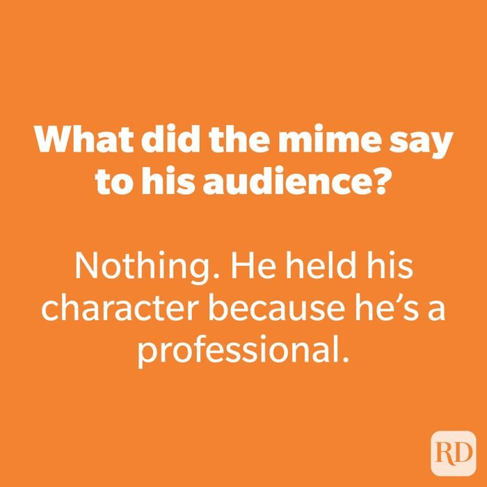 What did the mime say to his audience?