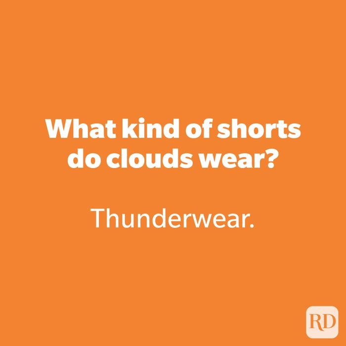 What kind of shorts do clouds wear?