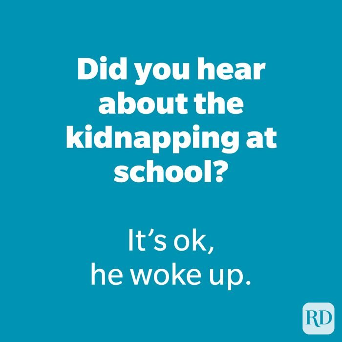 Did you hear about the kidnapping at school?