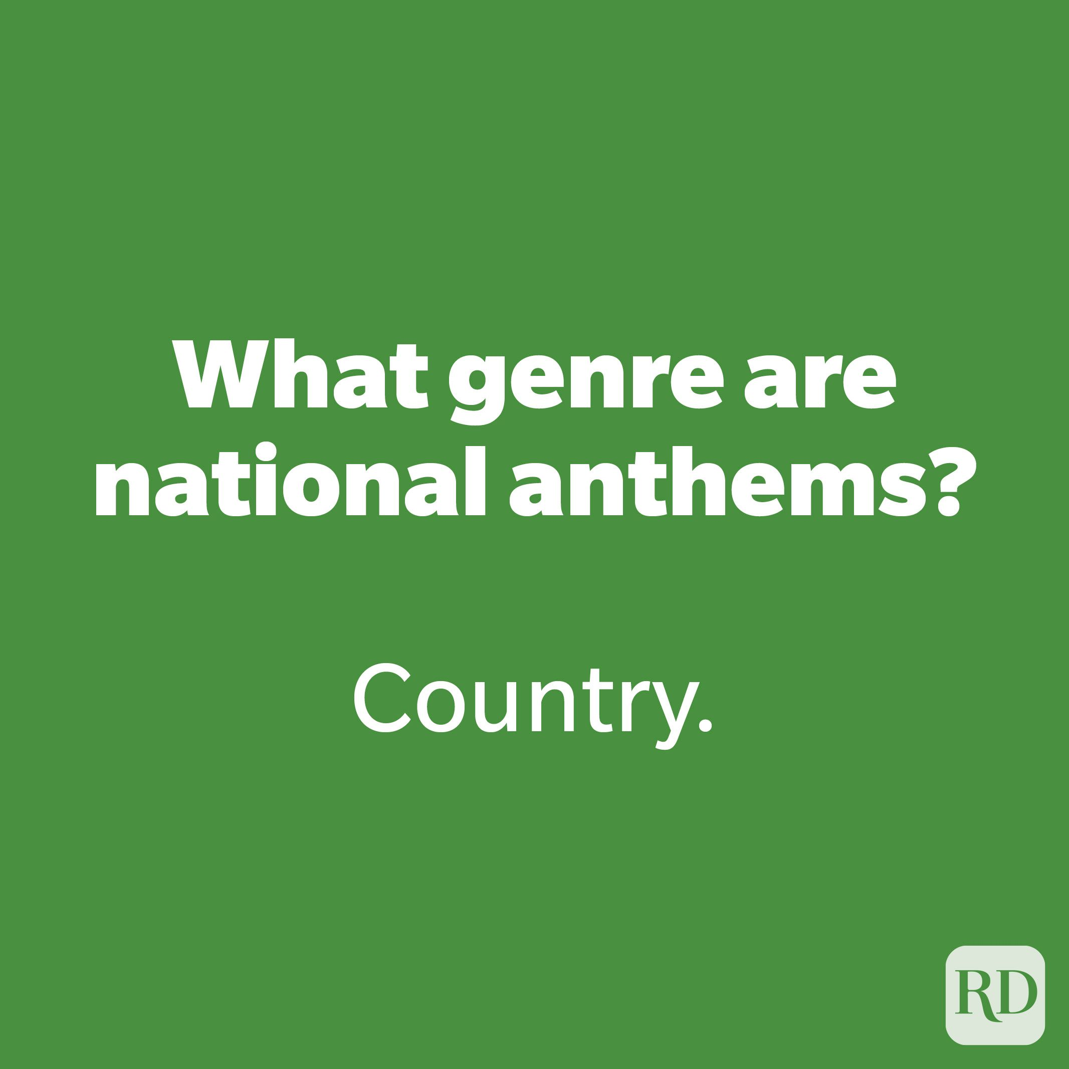 What genre are national anthems?