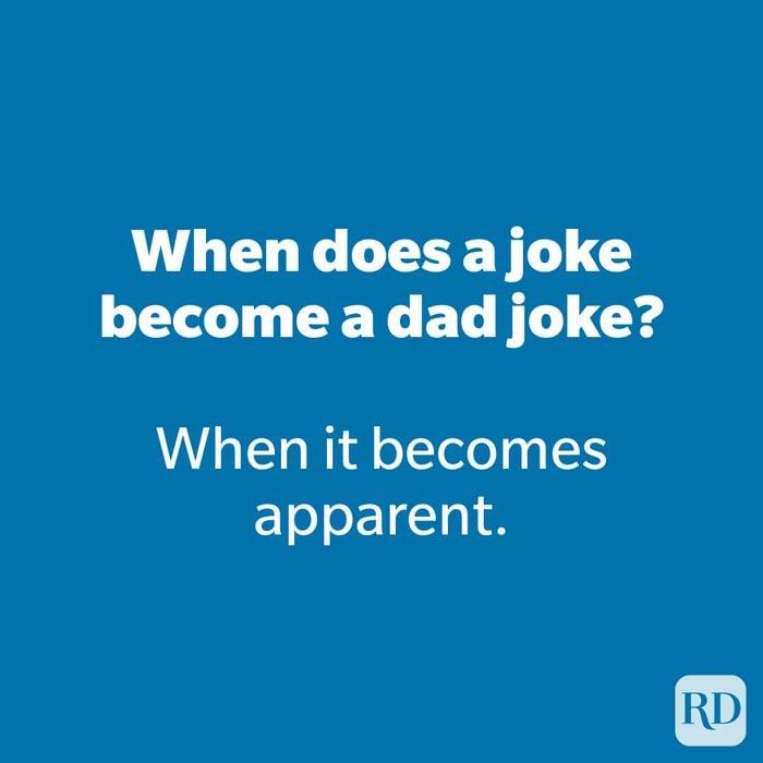 When does a joke become a dad joke?