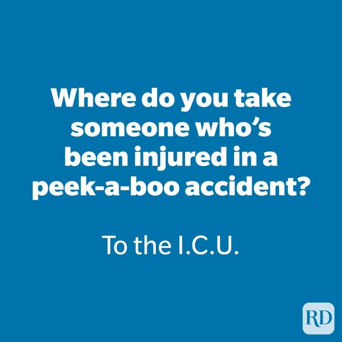Where do you take someone who's been injured in a peek-a-boo accident?