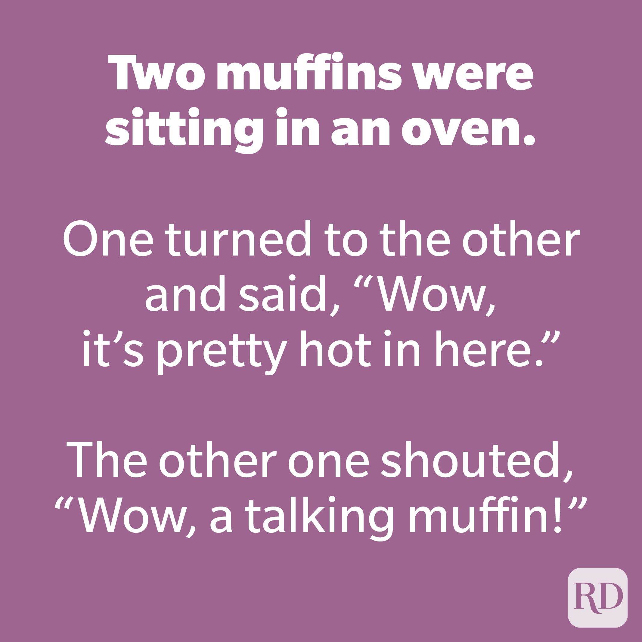 Two muffins were sitting in an oven.
