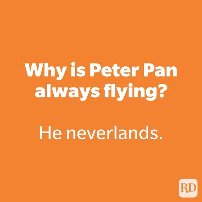 Why is Peter Pan always flying?