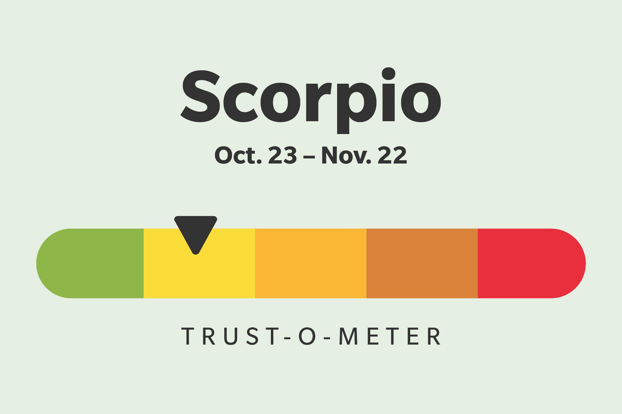Scorpio (October 23–November 21)